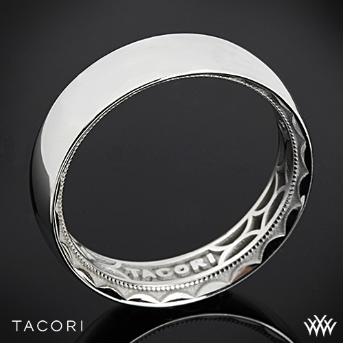 6mm 18k White Gold Tacori Sculpted Crescent Rounded Eternity