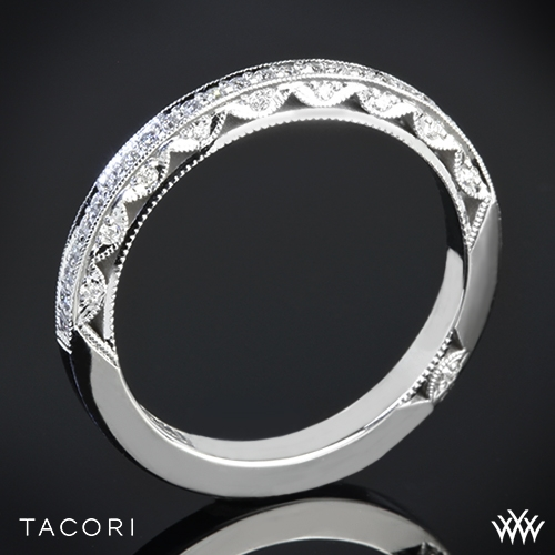 tacori 2616 b12 x classic crescent pave half eternity diamond wedding ring 2588 - Tacori Wedding Ring