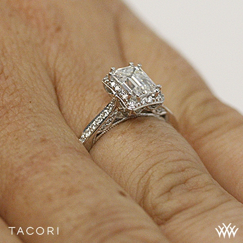 Tacori 2620 Ec Sm Dantela Crown For Emerald Diamond Engagement Ring 2610