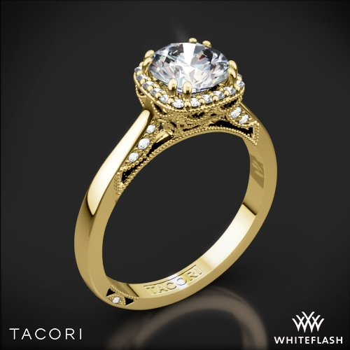 tacori 2620rdsm dantela crown solitaire engagement ring 1 - Crown Wedding Rings