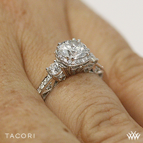 tacori 2623rdsm dantela three engagement ring 2602
