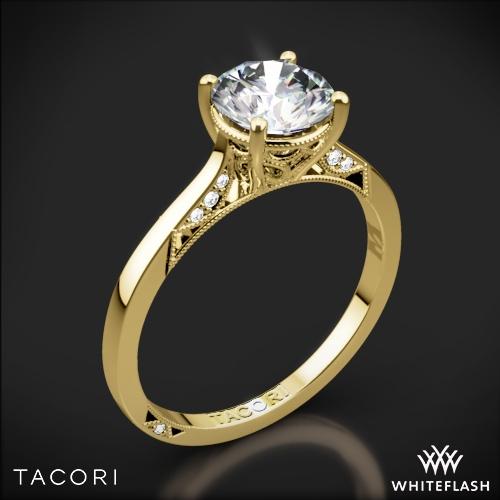 Tacori 2638RD Dantela Crescent Motif Solitaire Engagement Ring
