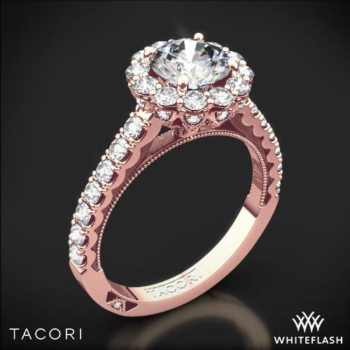 Tacori 37 2 RD Full Bloom Round Halo Diamond Engagement Ring