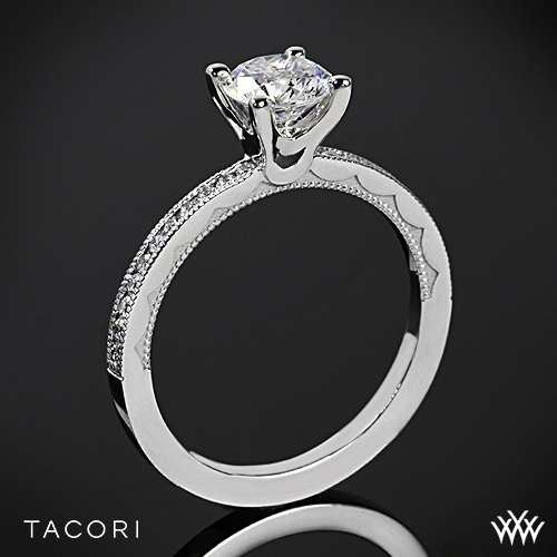 Tacori Sculpted Crescent Round Channel Diamond Engagement Ring
