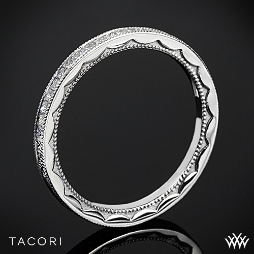 Tacori 45-15ET Sculpted Crescent Eternity Lace Diamond Wedding Ring