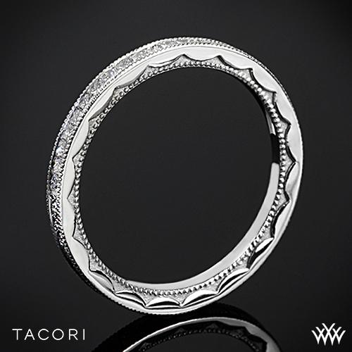 Tacori 45-15ET Sculpted Crescent Eternity Lace Diamond Wedding Ring