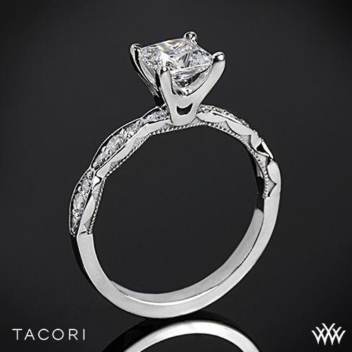 Tacori 46-25PR Sculpted Crescent Diamond Engagement Ring for Princess