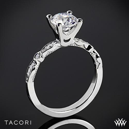 Tacori 47-2RD Sculpted Crescent Petite Diamond Engagement Ring