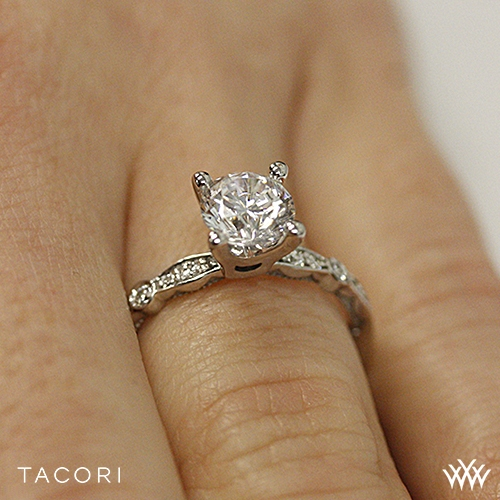 tacori 47 2 rd sculpted crescent engagement