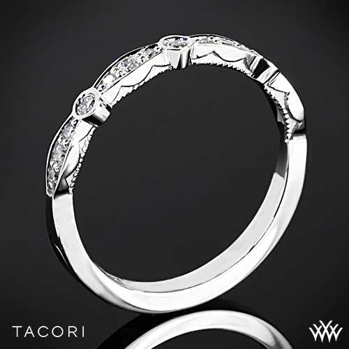 Tacori 47-2 Sculpted Crescent Marquise Shape Diamond Wedding Ring