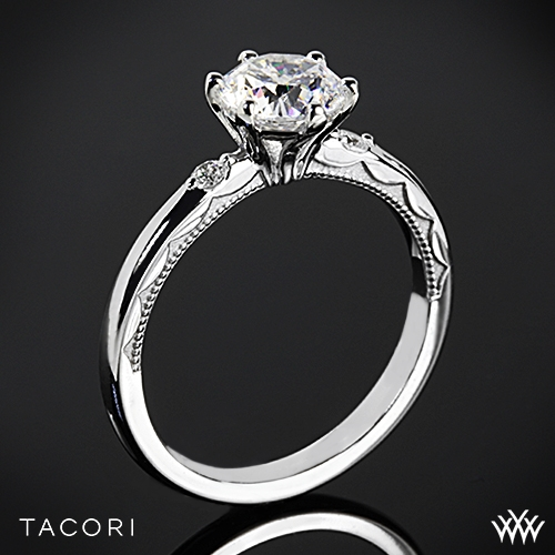 Tacori Sculpted Crescent Classic 3 Stone Engagement Ring