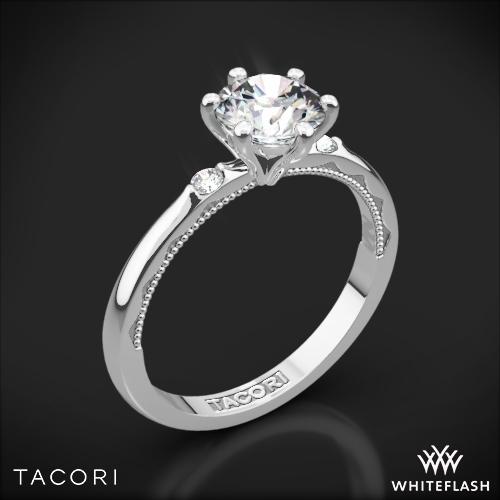 Tacori 56-2RD Sculpted Crescent Classic Three Stone Engagement Ring