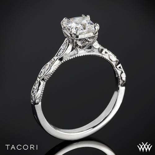 Tacori 57-2PR Sculpted Crescent Diamond Engagement Ring for Princess