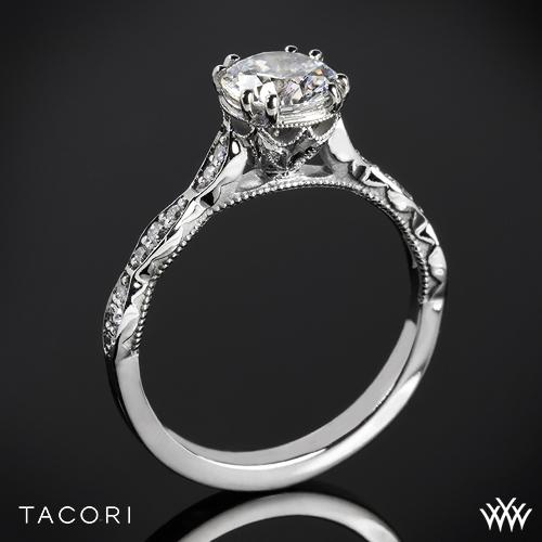 Tacori 57-2RD Sculpted Crescent Diamond Engagement Ring