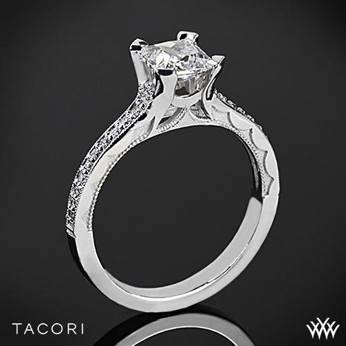 Tacori 58-2PR Sculpted Crescent Grace Diamond Engagement Ring for Princess