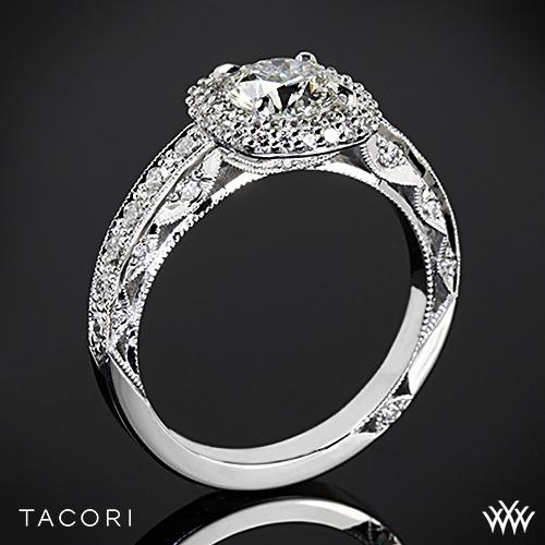 Tacori HT2520CU Blooming Beauties Double Cushion Halo Diamond Engagement Ring
