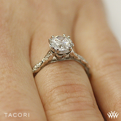 Tacori 57 2 Rd Sculpted Crescent Elevated Crown Diamond Engagement