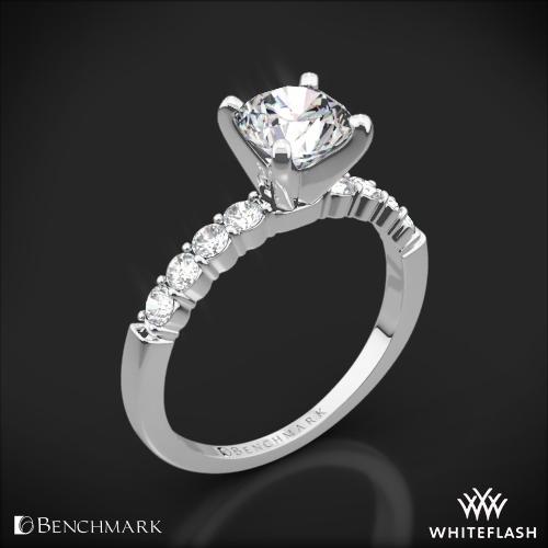 Benchmark Shared-Prong Diamond Engagement Ring