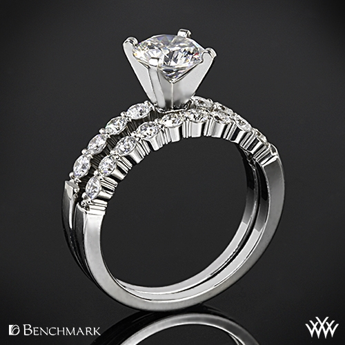 Benchmark Shared-Prong Diamond Wedding Set