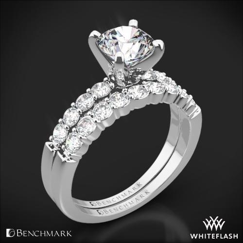 Benchmark Shared-Prong Diamond Wedding Set
