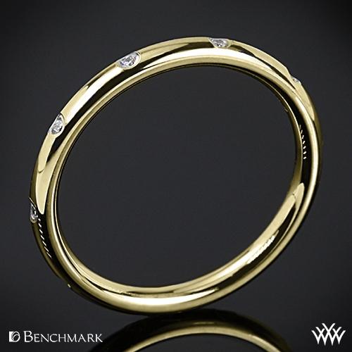 Benchmark Spaced Eternity Diamond Wedding Ring