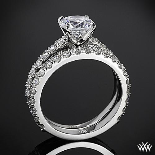 French-Set Diamond Wedding Set