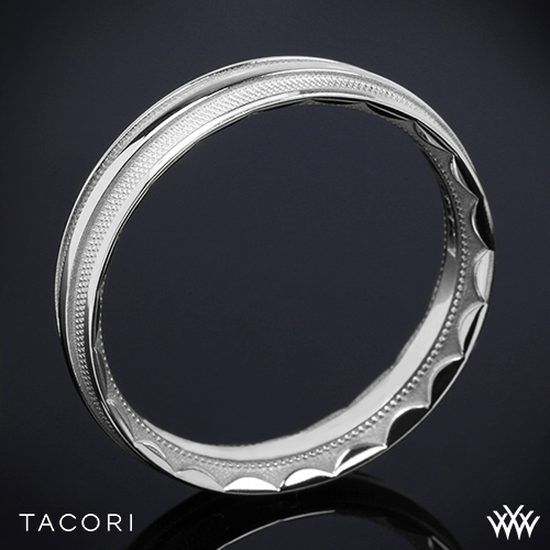 Tacori 76-5 Sculpted Crescent Mesh Wedding Ring