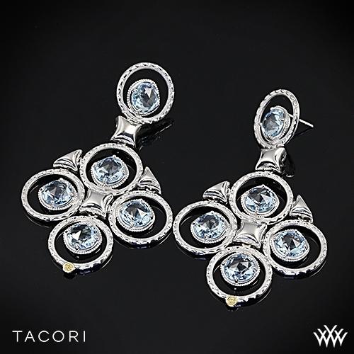 Tacori SE15202 Island Rains Sky Blue Topaz Chandelier Earrings