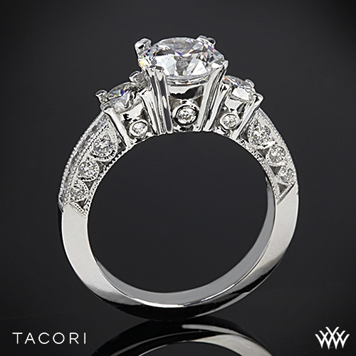 Tacori HT2326 Classic Crescent Three Stone Engagement Ring