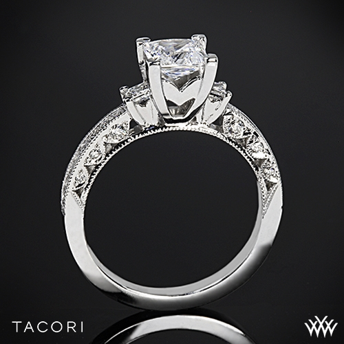 Tacori HT2430SM Classic Crescent Channel-Set Three Stone Engagement Ring for Princess