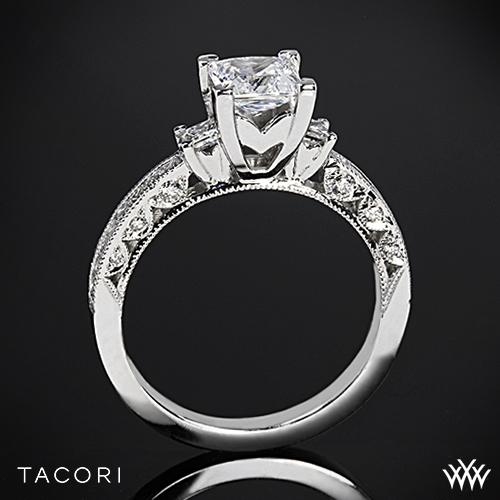 Tacori HT2430SM Classic Crescent Three Stone Engagement Ring for Princess