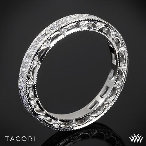 Tacori HT2510PRB Reverse Crescent Eternity Princess Star Diamond Wedding Ring