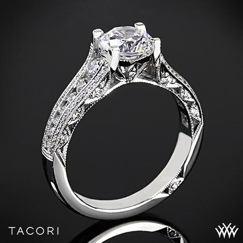 Tacori HT2513RD Classic Crescent Tapered Diamond Engagement Ring