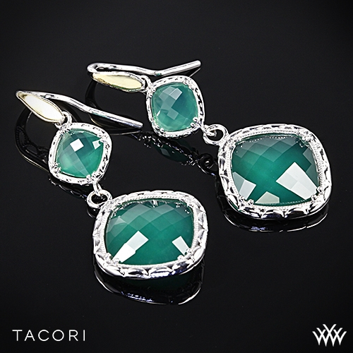 Tacori SE118Y27 Onyx Envy Clear Quartz over Green Onyx Earrings