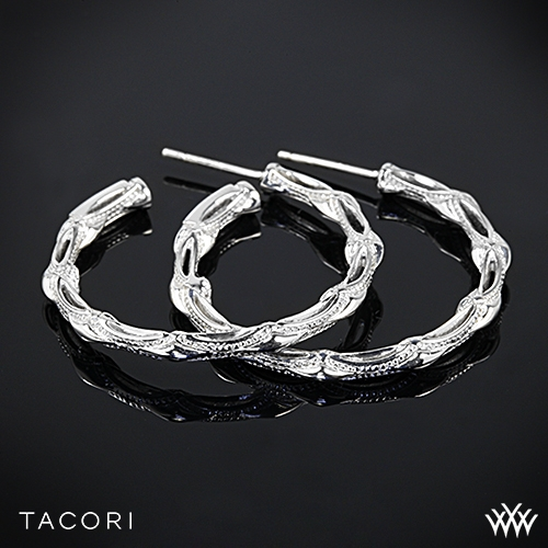 Tacori Classic Rock Medium Hoop Earrings