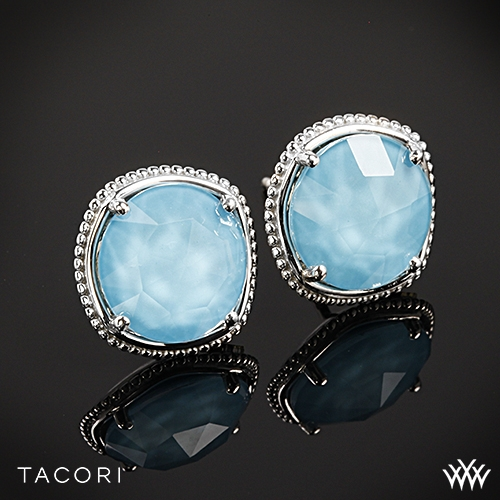 Tacori SE15605 Island Rains Clear Quartz over Neolite Turquoise Earrings