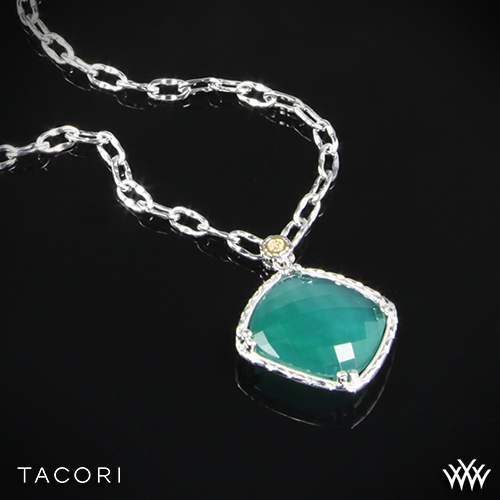Tacori SN13427 Onyx Envy Clear Quartz over Green Onyx Pendant