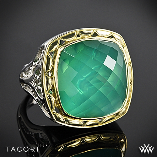 Tacori SR117Y27 Onyx Envy Clear Quartz over Green Onyx Ring