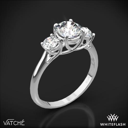 Vatche 319 X-Prong Three Stone Engagement Ring