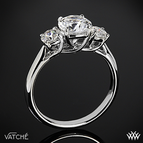 Vatche 319 X-Prong 3 Stone Engagement Ring