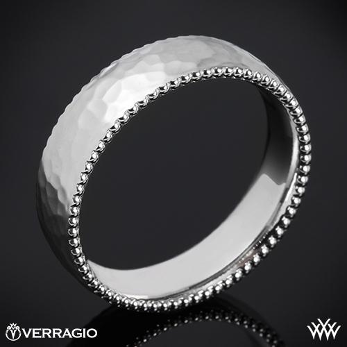 Verragio 6N12HM Hammered Satin Wedding Ring