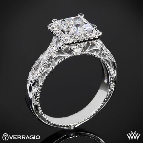 Verragio AFN-5005P-2 Halo Twist Diamond Engagement Ring for Princess