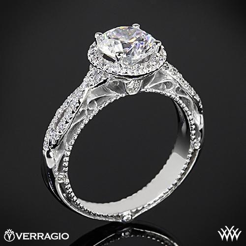 Verragio AFN-5005R-2 Round Halo Twist Diamond Engagement Ring