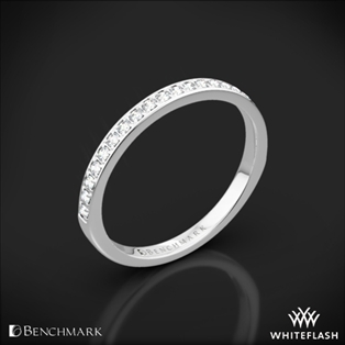 Benchmark Small Pave Diamond Wedding Ring