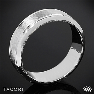 Tacori 71-7WH Sculpted Crescent Hammered Wedding Ring