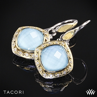 Tacori SE101Y05 Barbados Blue Clear Quartz over Neolite Turquoise and Diamond Earrings