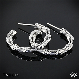 Tacori SE130 Classic Rock Small Hoop Earrings