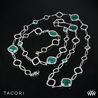 Tacori SN11427 Onyx Envy Clear Quartz over Green Onyx Necklace
