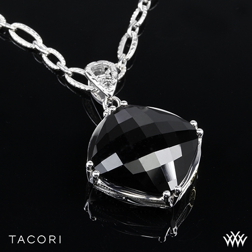 d4e75dde083b1 Tacori SN12819 Classic Rock Black Onyx Pendant in Sterling Silver with 18K  Yellow Gold Accents - Pendant Only