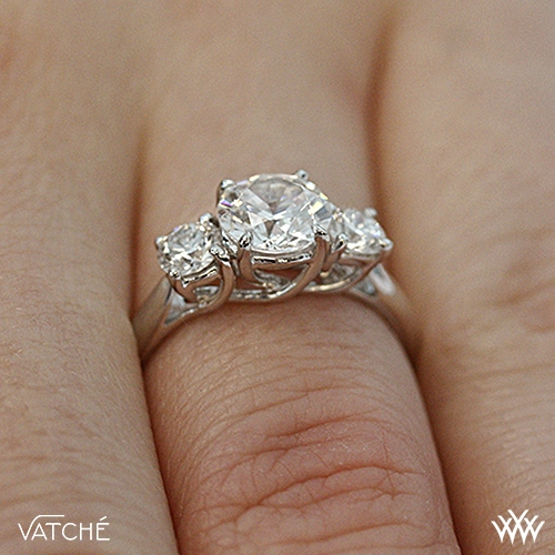 dd70852a1ef40 Vatche X-Prong 3 Stone Engagement Ring